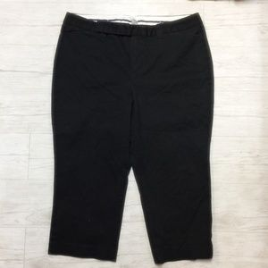 Womens Black Capris Capri Pants sz 16 Stretch